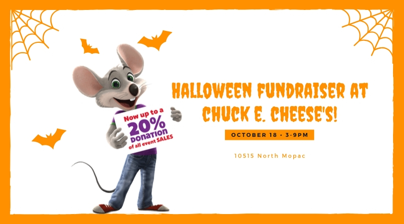 Halloween Fundraiser at Chuck E. Cheese's!
