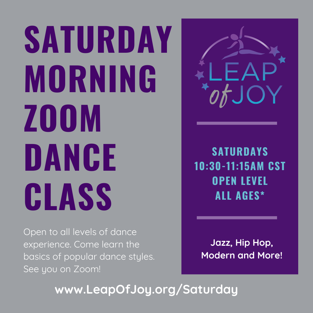 Saturday Morning Zoom Dance Class